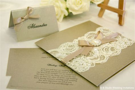 Wedding Invites Handmade - 5 days of vintage garden wedding invitations
