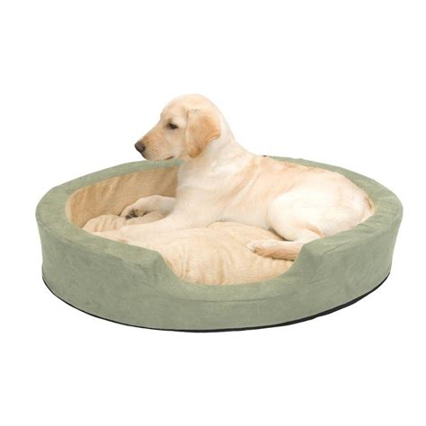 k h dog beds k h pet products thermo snuggly sleeper large sage heated