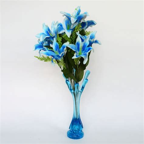 Blue Vase With Flowers flower vase with flower shopping
