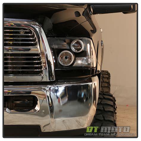 2013 ram led headlights black 2009 2017 dodge ram led halo projector headlights