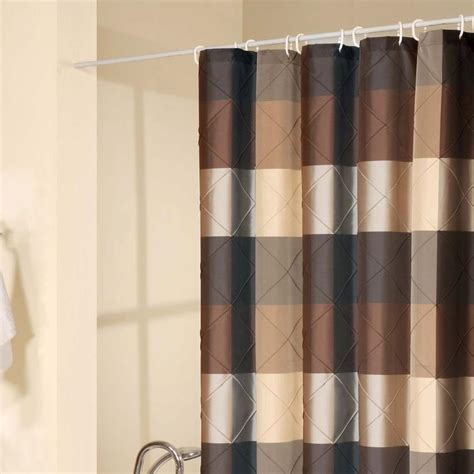 brown and white striped curtains curtain interesting brown shower curtain sage green