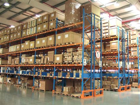 high density steel racking systems  spraying paint