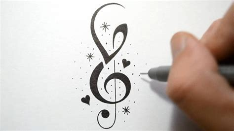music notes and stars tattoo designs how to incorporate initials into notes