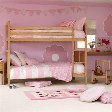 Pink Bunk Bed Theme For Girls Bedroom Ideas Pink Bedroom Pink Bunk Beds For