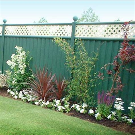 Metal Garden Fencing by Garden Steel Fence Fences