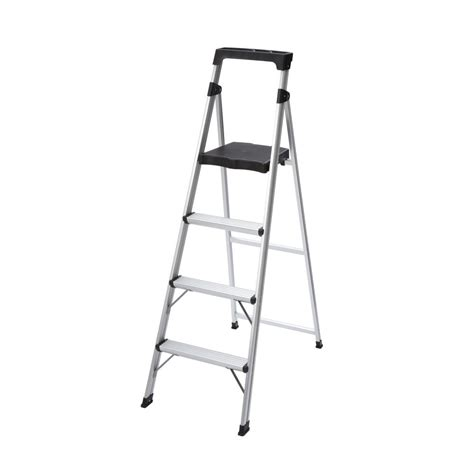 Ultra Lightweight Step Stools by Gorilla Ladders 4 Step Aluminum Ultra Light Step Stool