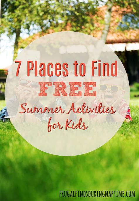 7 Places To Buy by 7 Places To Find Free Summer Activities For Frugal