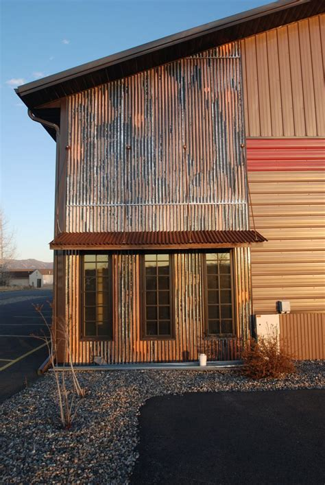 Corrugated Metal Awning by Corrugated Metal As Accent With Awning Architecture