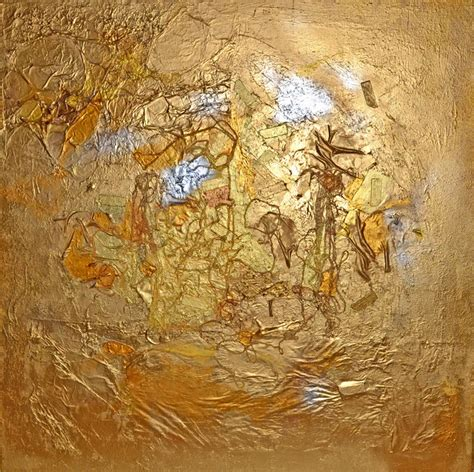 Gold Country Mixed Media Painting Artist Adina Cicort