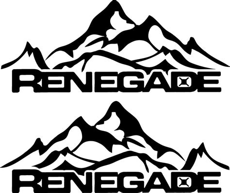 mountain jeep logo jeep renegade mountain logo graphic vinyl decal sticker ebay