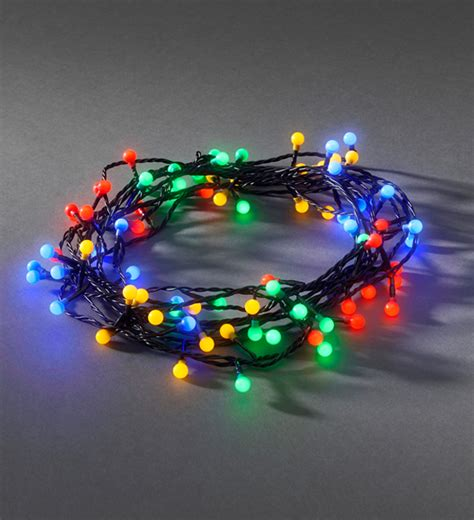 konstsmide 80 multicoloured led berry christmas tree