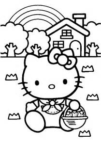 pudgy bunny kitty coloring pages