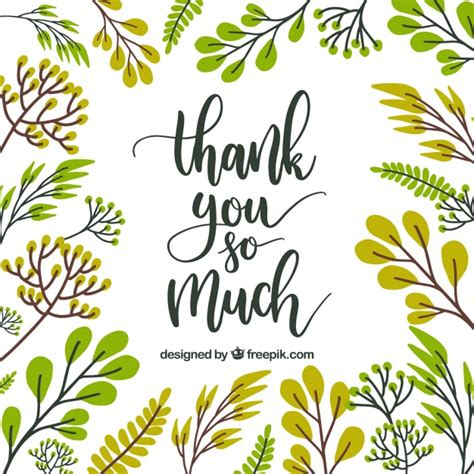 thank you card template free vector thank you card floral design vector free