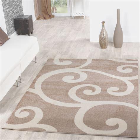 teppiche muster teppiche modern mit floral muster in beige creme