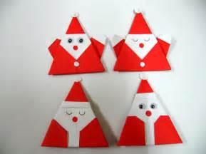 Santa Clause Origami - origami santa claus for decoration set of 50