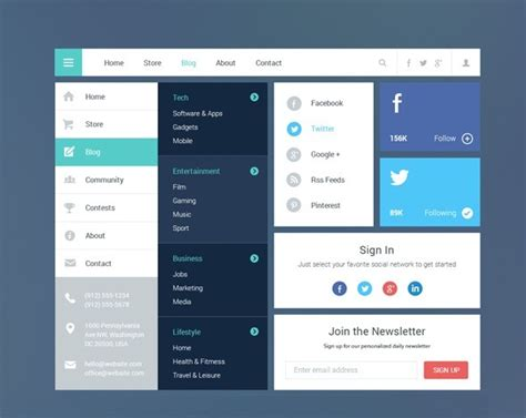desktop application design templates 80 free flat ui kits psd for mobile apps websites
