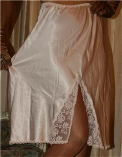 petticoat sissy ebay m long silky pink satin vintage lingerie sissy 1 2 slip