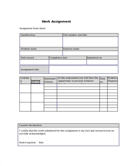 assignment templates project assignment template 4 free word pdf documents