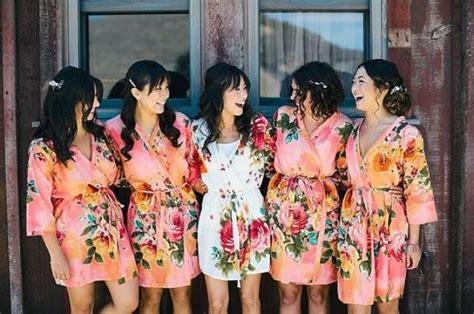 black rob ready bridesmaids robes set of 5 kimono crossover robe