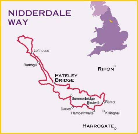 nidderdale  map north yorkshire england harvey maps
