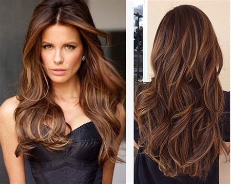 chocolate hair color with caramel highlights rich brunettes with caramel highlights it s a classic