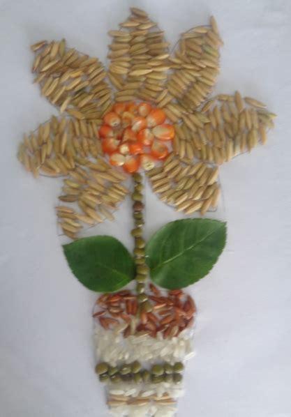 membuat kolase dari biji bijian membuat kolase gambar bunga berbagai contoh gambar kolase