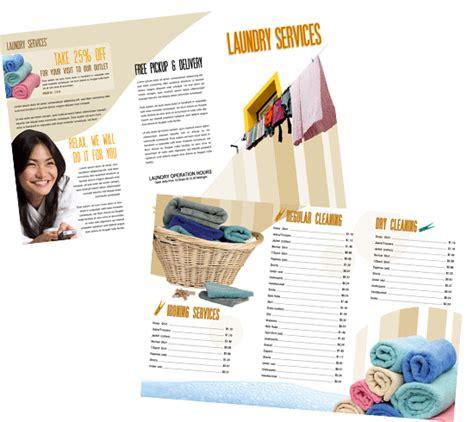 desain brosur laundry 10 contoh desain brosur laundry desain arena desain arena