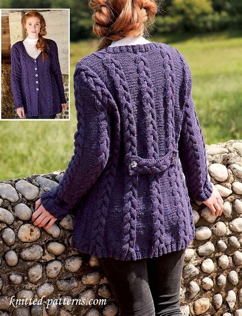 knitting jacket cabled jacket knitting pattern free