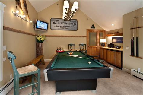 how to decorate a room with a pool table large park city home sleeps 30 ski in ski out 11