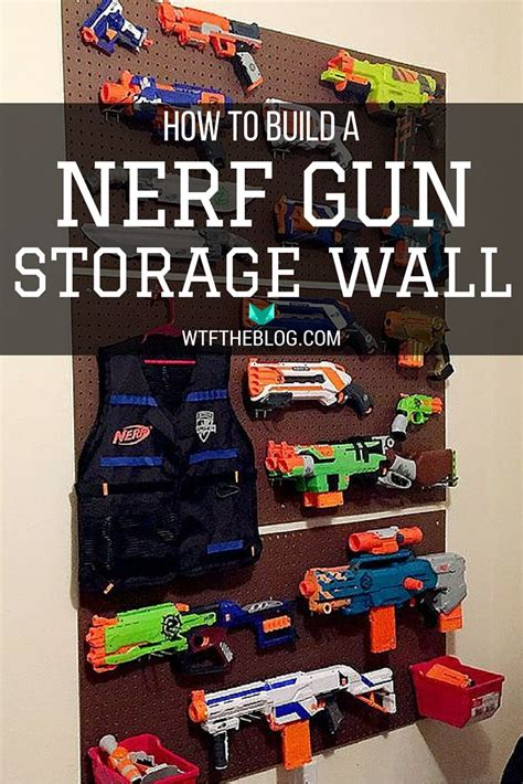 nerf gun rack i it diy nerf gun wall nerf how to build and your