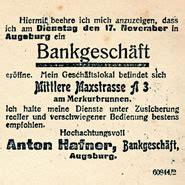 hafner bank augsburg historie bankhaus bankhaus hafner