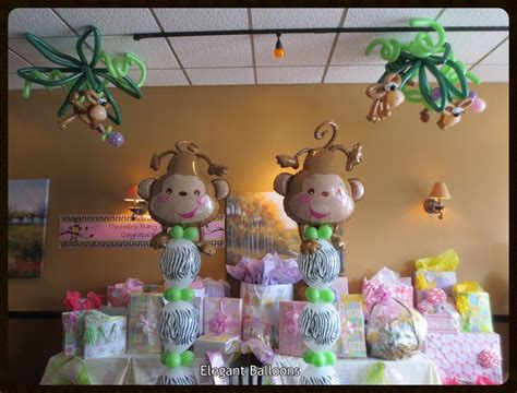 City Monkey Baby Shower Theme by Baby Shower Monkey Themed Balloons