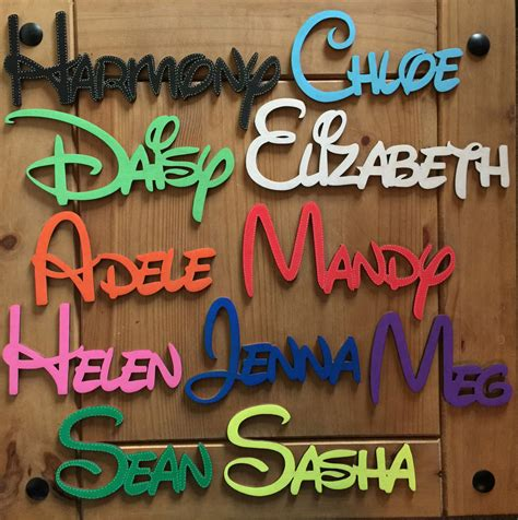 Letter Names disney wooden words letters personalised names wedding