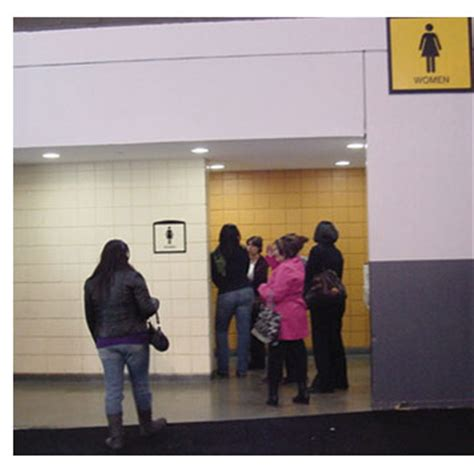 long bathroom line saniflo news release new potty parity facebook page