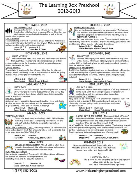kindergarten themes by month preschool curriculum by month teaching tools pinterest