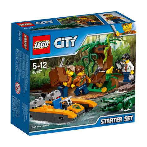 lego fishing boat kmart lego city jungle starter set 60157 kmart