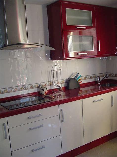 imagenes de cocinas minimalistas blancas dise 241 os de cocinas rojas 2018 blogdecoraciones