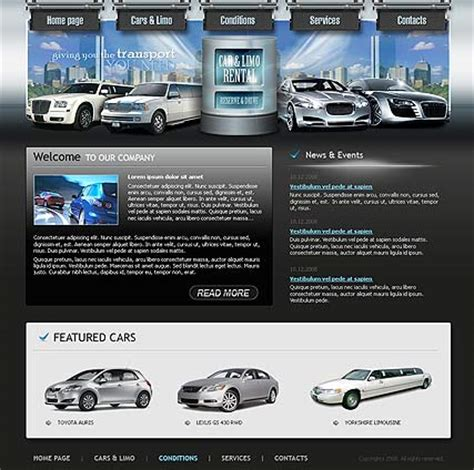 best site to rent cars cars rental website template best website templates
