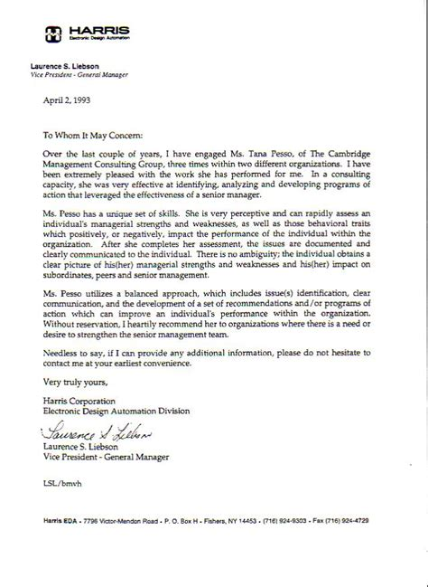 Recommendation Letter For Management Tana Pesso Contextual Analytical Motivational Coaching Testimonials