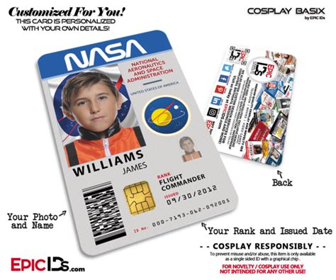nasa id card template kindergarten nasa astronaut themed access id badge epic ids