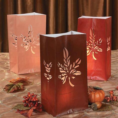 Luminary Bags   Fall Leaf Autumn Theme (BULK 12 Bags) [383