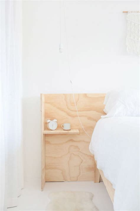 headboard with built in bedside tables 25 best ideas about plywood headboard on