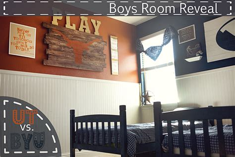 ut rooms diy boys room reveal ut vs byu