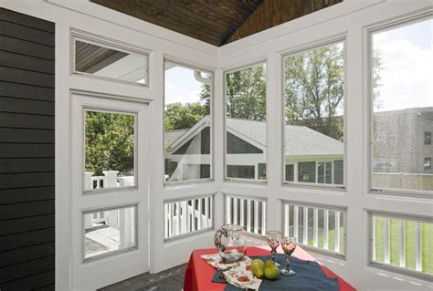 Plexiglass Windows Screened Porch screen porch craftsman porch chicago by great rooms designers builders
