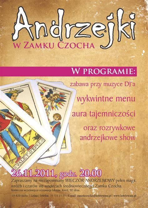 Plakat Andrzejkowy plakat portfolio atg media