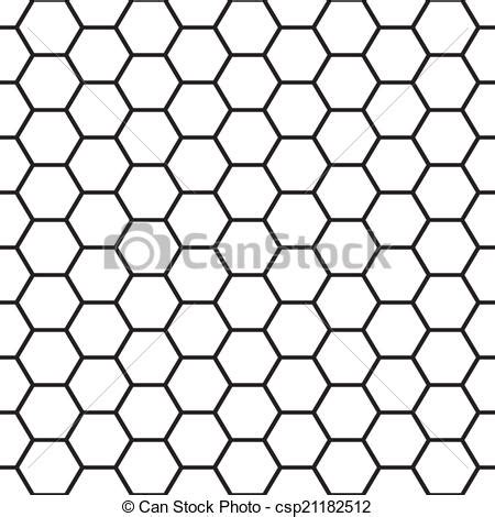 cell pattern en français vector clip art of black and white bee cells seamless
