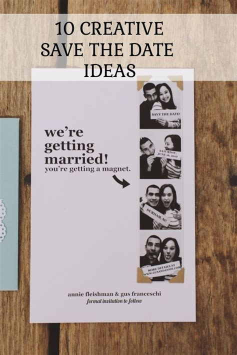 10 Date Ideas by 10 Creative Save The Date Ideas You Ll Creative