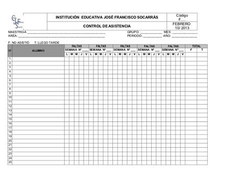 como hacer un registro auxiliar de asistencia en excel formato control de asistencia estudiantes