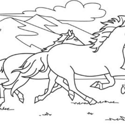 coloring pictures of horses running clipart of a black and white boy running vector