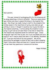 Gift Exchange Letter For This Has Three Interesting Gift Giving Ideas For Your Classroom A General Plan And A Parent